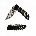 Camouflage Color Stainless Steel Survival Foldable Hunting Knife for Camping