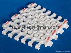 46mm Pitch Radius Flush Grid Modular Conveyor Belt 2400A