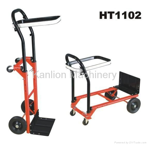 Convertible Hand Truck and Garbage Trolley Dump Cart 2
