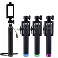 Selfie Stick 3.5mm Cable Monopod Extendable Selfie  with Adjustable holder