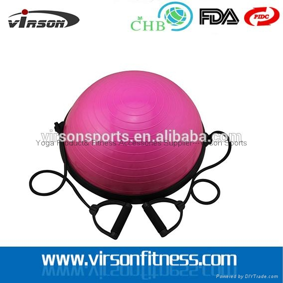 Ningbo Virson Top grade antique half oval gym ball massage ball bosu ball 1