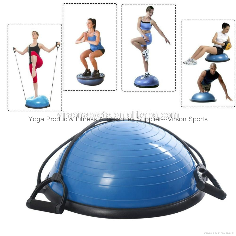 Ningbo Virson Top grade antique half oval gym ball massage ball bosu ball 4
