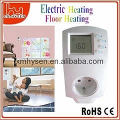 Digital plug in thermostat socket