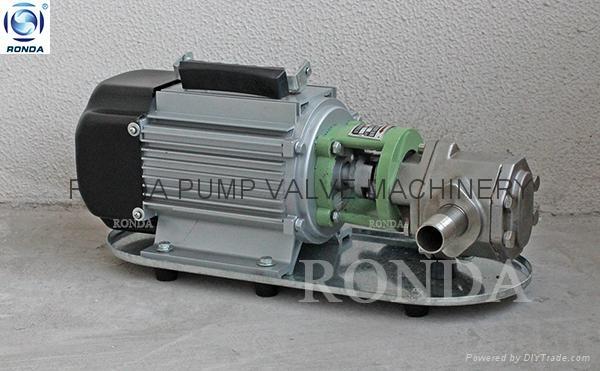WCB 便携式铸铁/不锈钢电动齿轮油泵 5