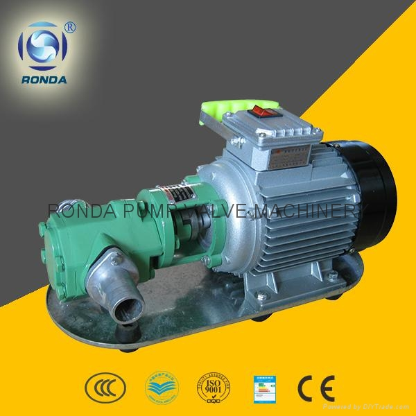 WCB 便携式铸铁/不锈钢电动齿轮油泵 1