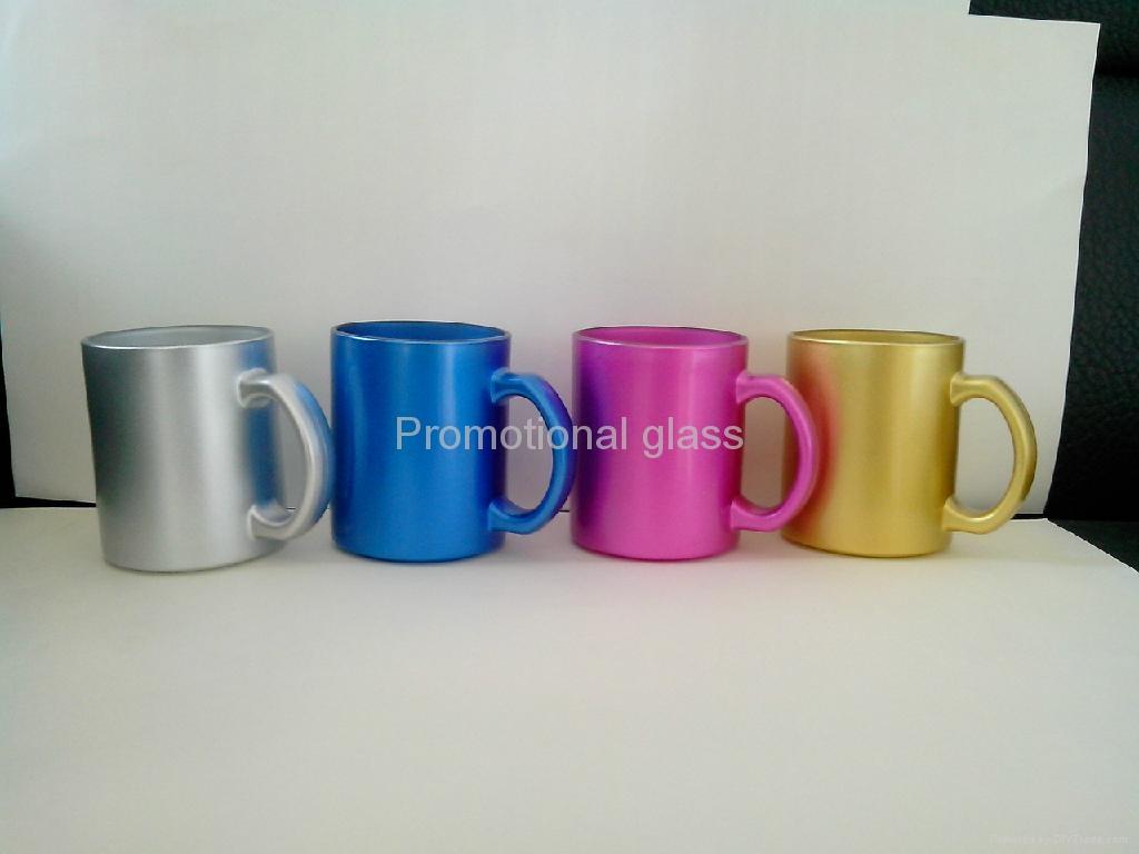 11oz sublimation pearl finished glass mug,  1