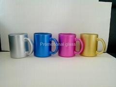 11oz sublimation pearl finished glass mug,