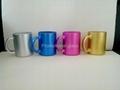11oz sublimation pearl finished glass mug,  2