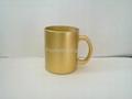 11oz sublimation pearl finished glass mug,  3