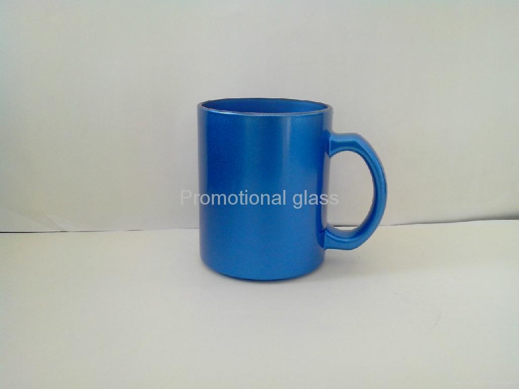 11oz sublimation pearl finished glass mug,  5