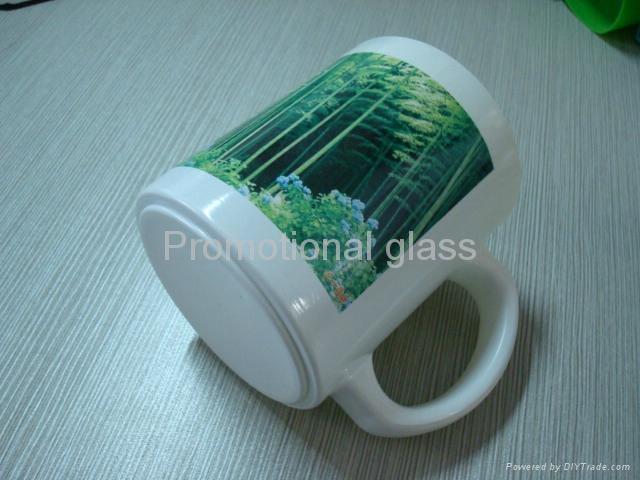11oz Sublimation White glass mug  1