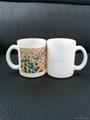 11oz Sublimation White glass mug  3