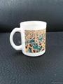 11oz Sublimation White glass mug  4