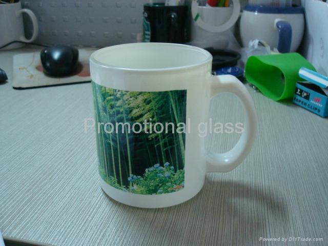 11oz Sublimation White glass mug  5