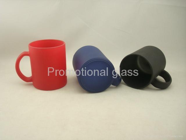 red color change glass mug  1