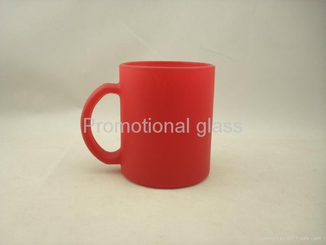 red color change glass mug  2