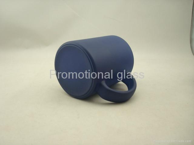 red color change glass mug  5