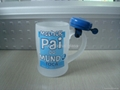 Outside frosted glass beer  mug with