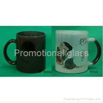 11oz balck color change glass mug  1