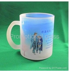 11oz Sublimation&frosted glass mug