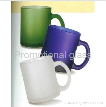 Frosted glass mug with handle glass mug 1