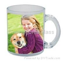 Sublimation glass mug with handle 2