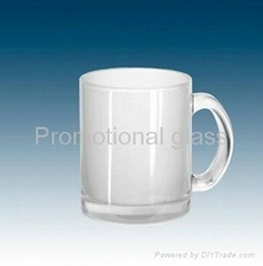 11oz Glass Mug, sublimation glass mugs