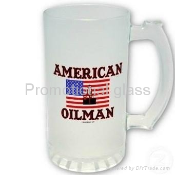 16oz sublimation & frosted  glass beer stein  1