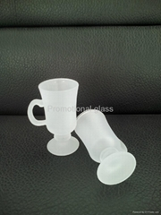 Frosted glass mug ,wine or coffee  glass mug