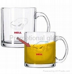 11OZ Color change glass mug with handle