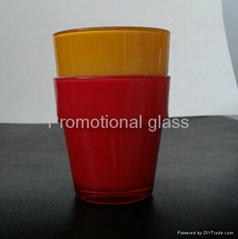 Sprayed double-layer glass cup,small wine glass cup