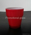 Sprayed double-layer glass cup,small wine glass cup 2