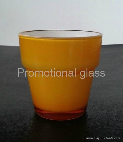 Sprayed double-layer glass cup,small wine glass cup 3