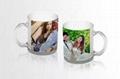 350ml Sublimation photo  glass mug  with handle 2
