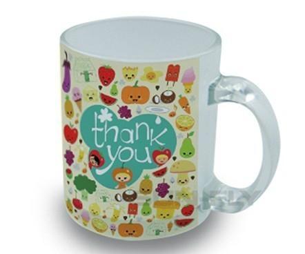 350ml Sublimation photo  glass mug  with handle 1
