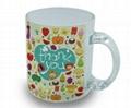 350ml Sublimation photo  glass mug  with