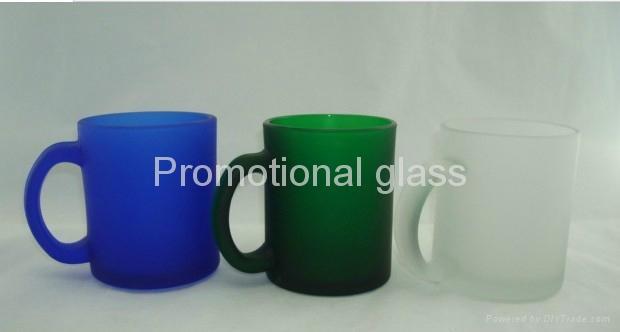 Frosted glass mug with handle glass mug 2