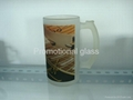 16oz glass beer stein glass mug with