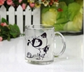 350ml sublimation glass mug 11oz 3
