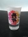 Sprayed and baked  glass tumbler mug  1