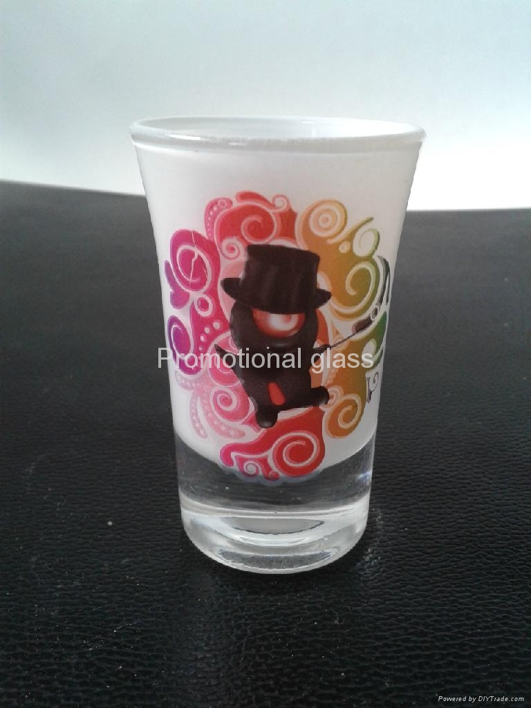 Sprayed and baked  glass tumbler mug  2
