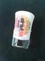 Sprayed and baked  glass tumbler mug  3