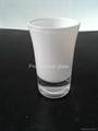 Sprayed and baked  glass tumbler mug  4
