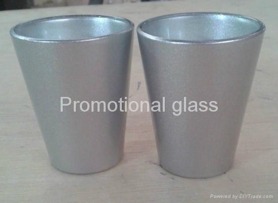 coating glass mug,  promotional shot  glass mug 1