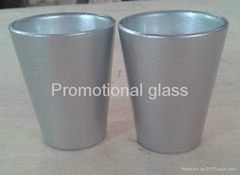 coating glass mug,  promotional shot  glass mug