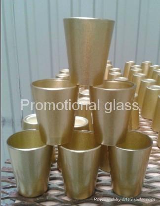 coating glass mug,  promotional shot  glass mug 5