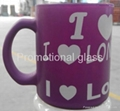 Sprayed color coating and  baked glass mugs with handle 4