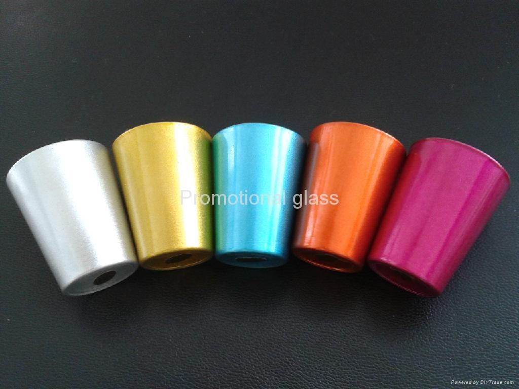 color coating glass mug  ,promotional shot glass mug 2