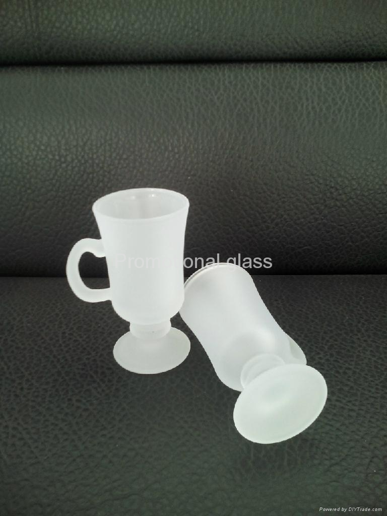outside frosted sublimation wine  glass mug 1