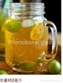 fruit Juice glass mug with handle